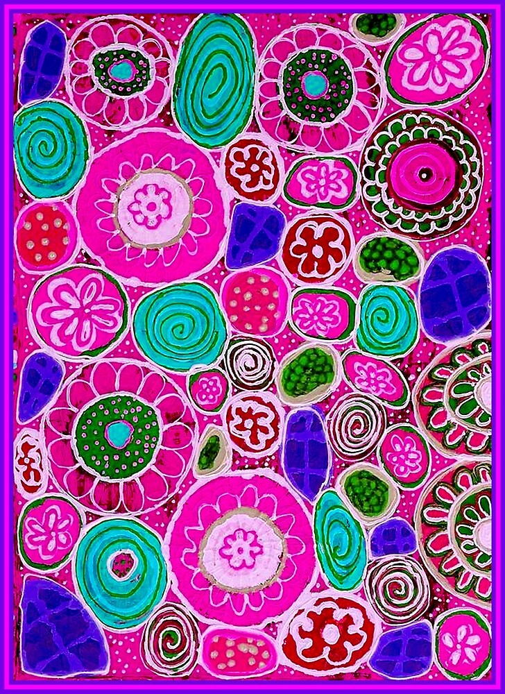 """PINK PASSION"" Abstract Flower Print by posterbobs"