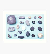Paired pebbles... Art Print