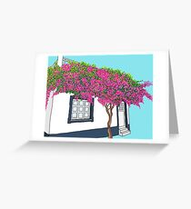 A little house in Portugal Greeting Card