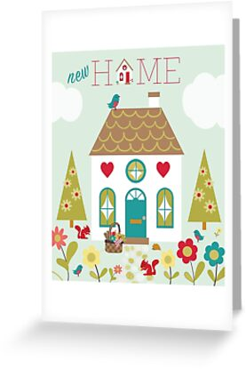 New Home greetings card inspired by Little Red Riding Hoods adventures by Michelle  Grace