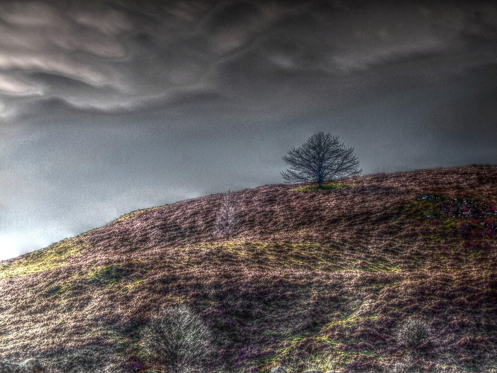 Stormy Hill by BrainwaveArt