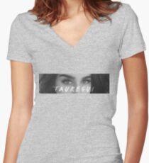 Camiseta entallada de cuello en V Ojos de Lauren Jauregui