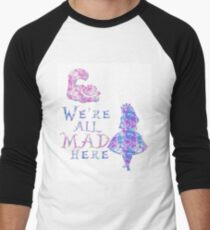 Pink and purple all mad Men's Baseball ¾ T-Shirt