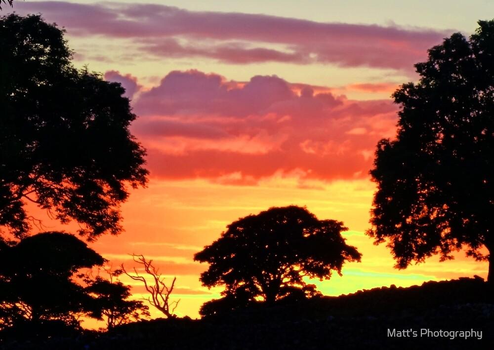 Sunset over the Fields by Matt's Photography
