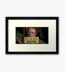 dr steve brule cool guy zone Framed Print