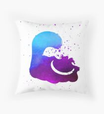 Purple splatter Cheshire Cat Throw Pillow