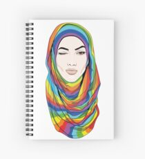 Rainbow hijab Spiral Notebook