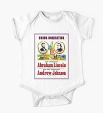 """""""UNION NOMINATION"""" Lincoln for President Print Short Sleeve Baby One-Piece"""