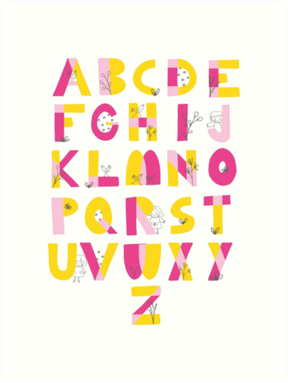 Hide and Seek Alphabet print by Sarah Price