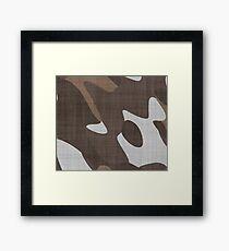 Brown camo Framed Print