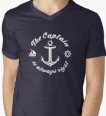 The Captain Is Always Right Men's V-Neck T-Shirt