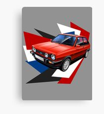 Ford Fiesta XR2 Graphic Art Canvas Print