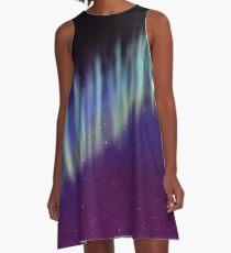 Northern Lights Print A-Line Dress