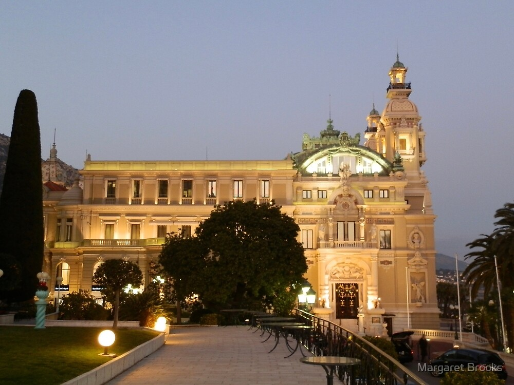 Monte Carlo Casino - side view by Margaret Brooks