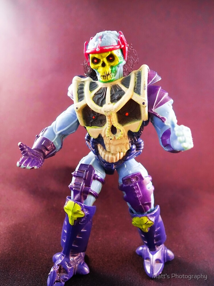 Spin Blade Skeletor Toy Portrait by Matt's Photography