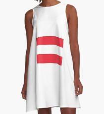 Austrian flag A-Line Dress