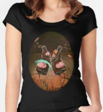 Swing Dancing Dr. Pepper Bottles Women's Fitted Scoop T-Shirt