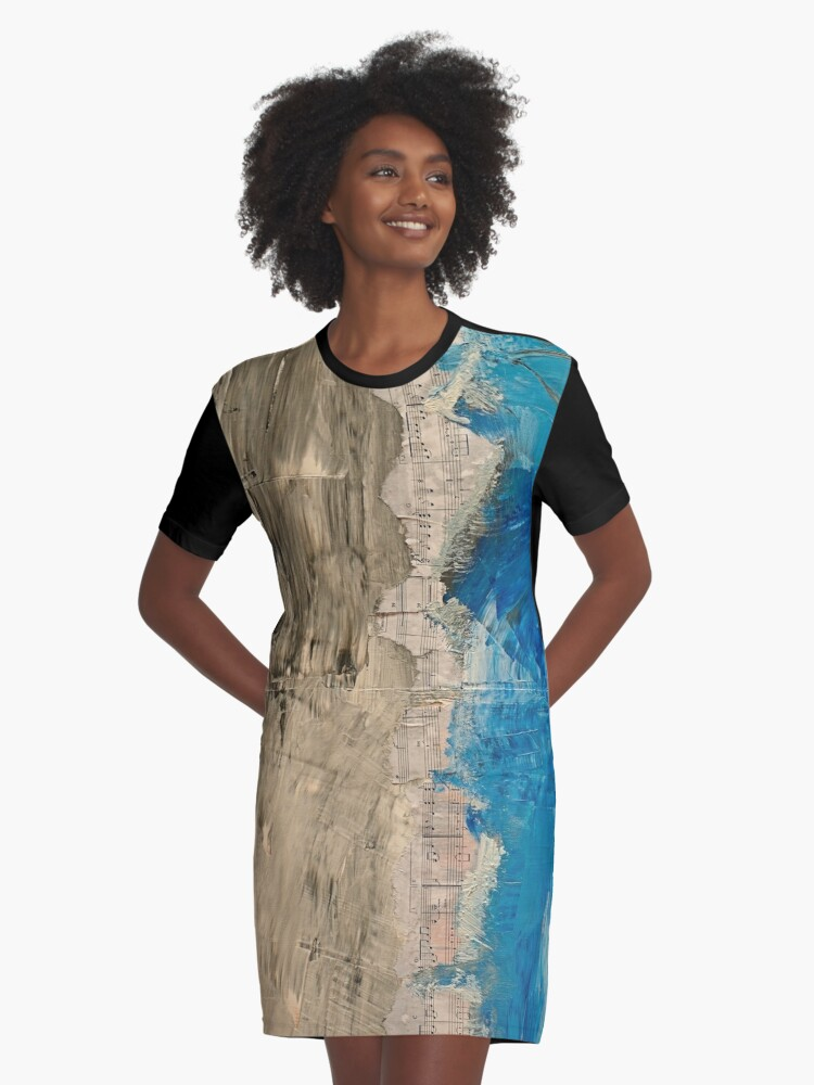 Music Graphic T-Shirt Dress Front