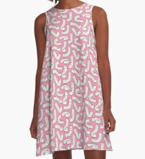 Worms Worms Worms! A-Line Dress