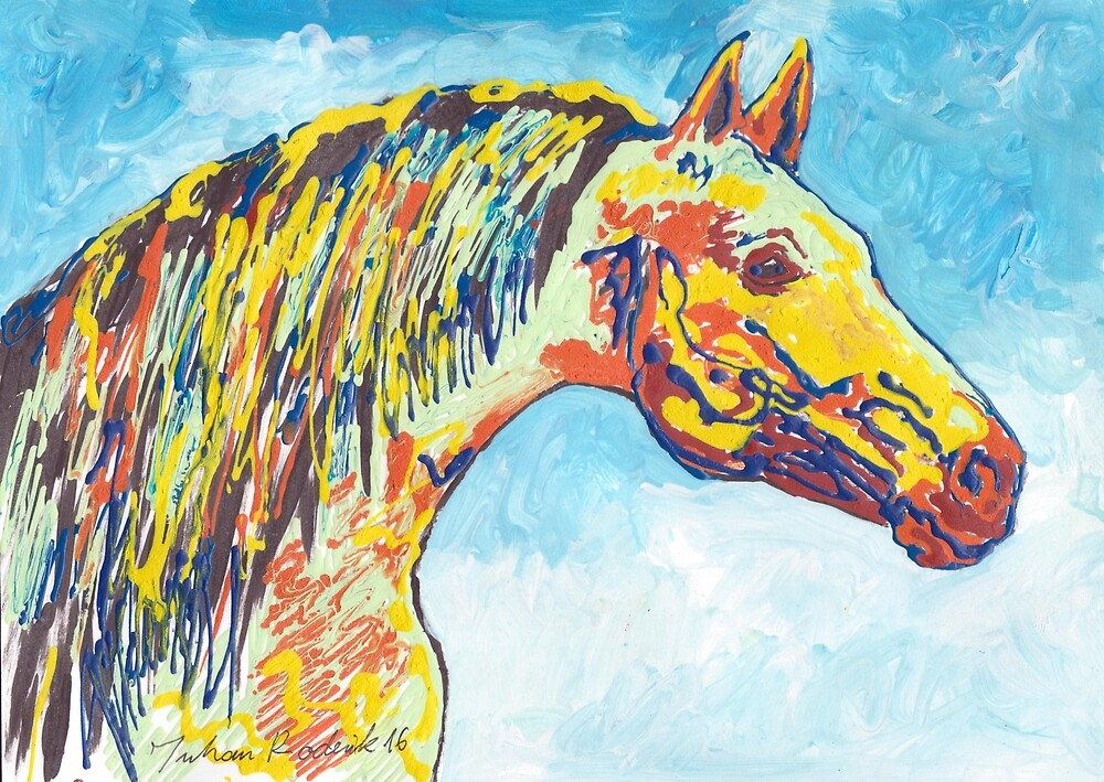 Colorful Horse by Juhan Rodrik
