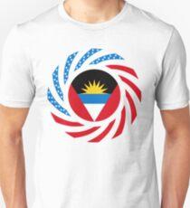 Antigua & Barbuda American Multinational Patriot Flag Slim Fit T-Shirt