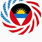 Antigua & Barbuda American Multinational Patriot Flag by Carbon-Fibre Media