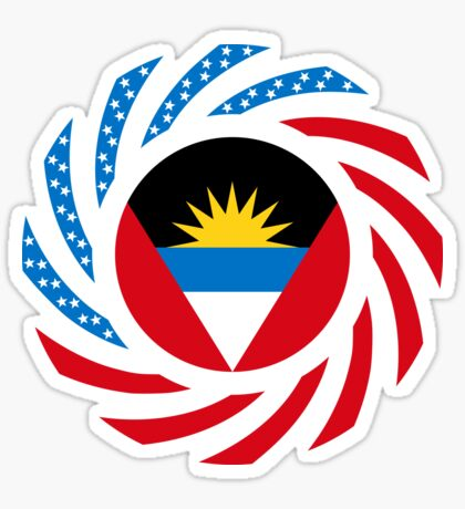 Antigua & Barbuda American Multinational Patriot Flag Sticker