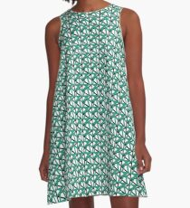 Pattern One in Teal A-Line Dress