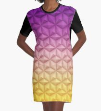 Spaceship Earth - Epcot At Night Graphic T-Shirt Dress