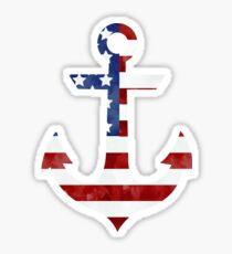 America Anchor Sticker