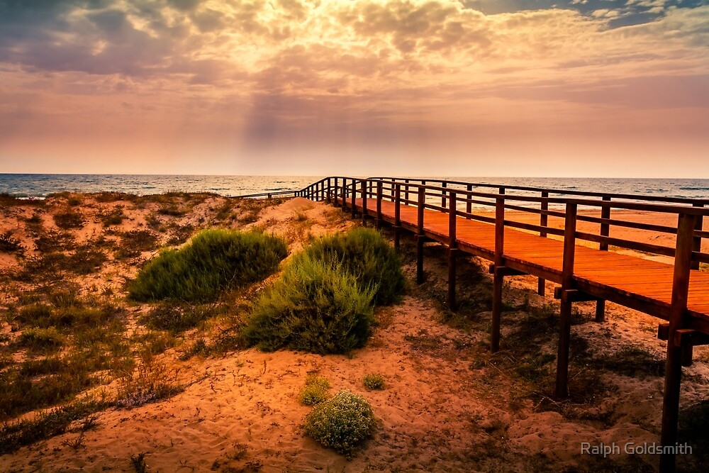 Sea view from Dunas de Arenales - Elche by Ralph Goldsmith