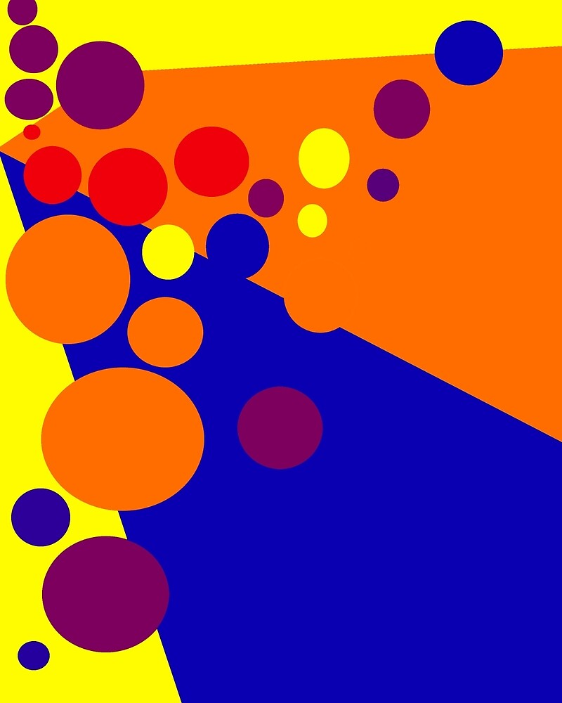 Orange abstract design by Moma by ValentinaHramov