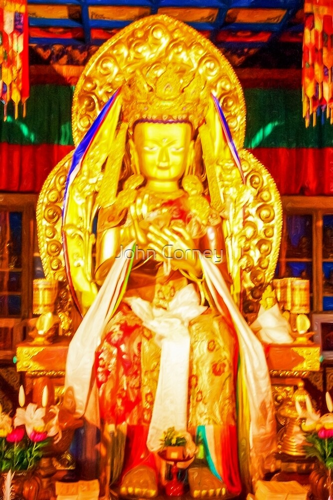 Golden Buddha by John Corney