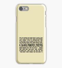 black-painted poetry iPhone Case/Skin