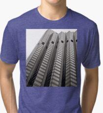 B&W - High Rise Office Building Tri-blend T-Shirt