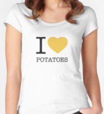 I ♥ POTATOES Women's Fitted Scoop T-Shirt