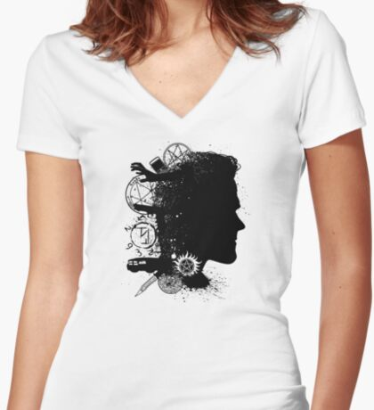 Brothers in Arms (Sam) Women's Fitted V-Neck T-Shirt