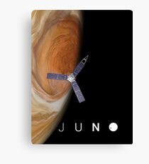 Juno over Great Red Spot Canvas Print