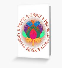 Harmony Peace Lotus Flower Greeting Card