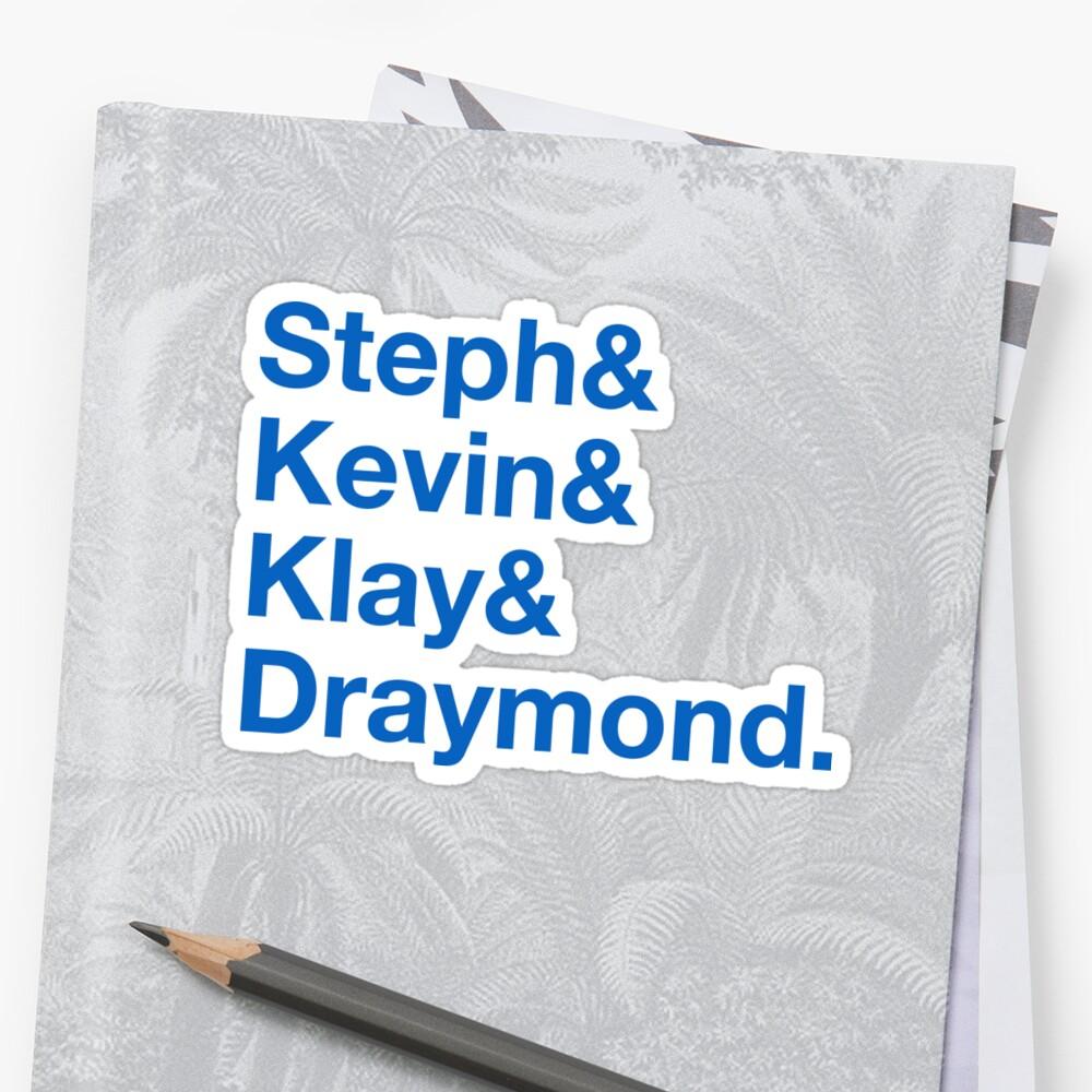 Steph & Kevin & Klay & Draymond Sticker
