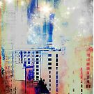 Cityscape Urban Starry Night Skyline by John Fish