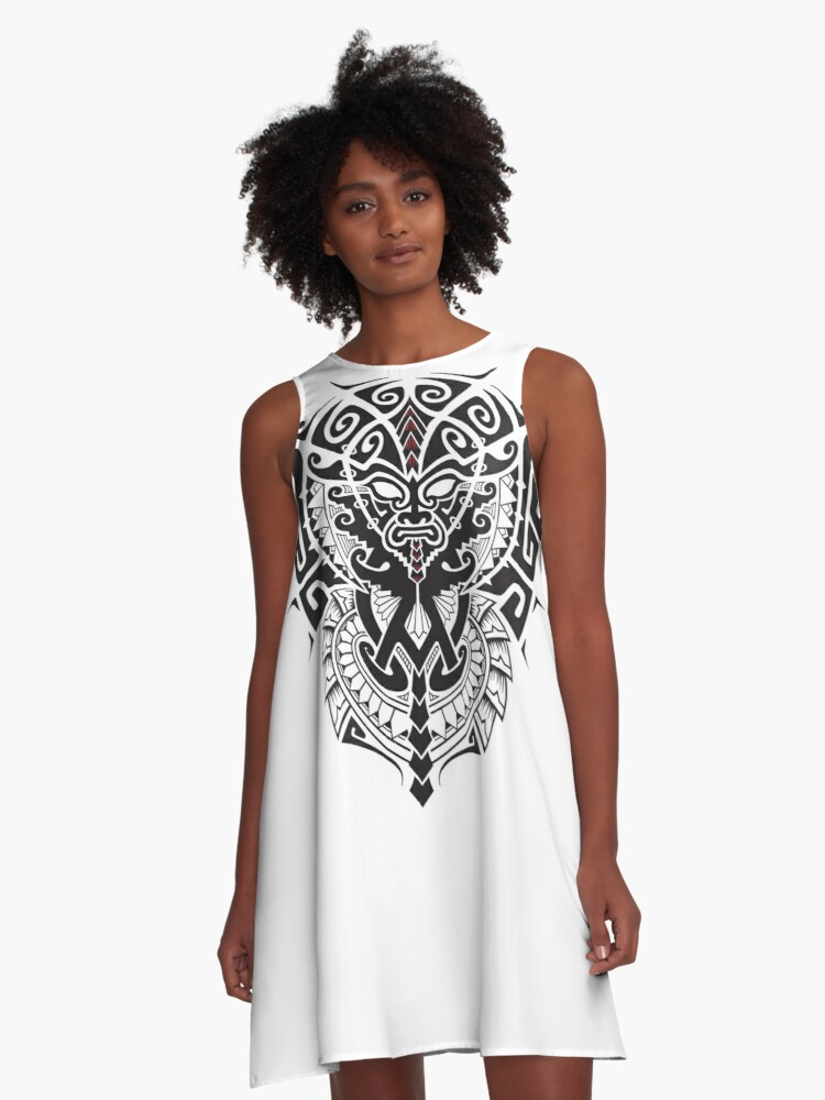 Tribal Maya A-Line Dress Front