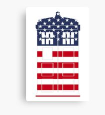 Doctor Who: American Flag TARDIS Canvas Print