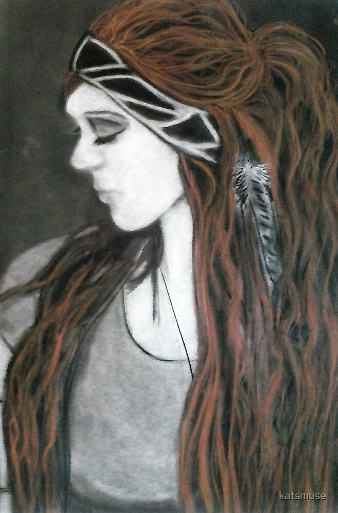 Girl with the Long Conte Hair by katsmuse