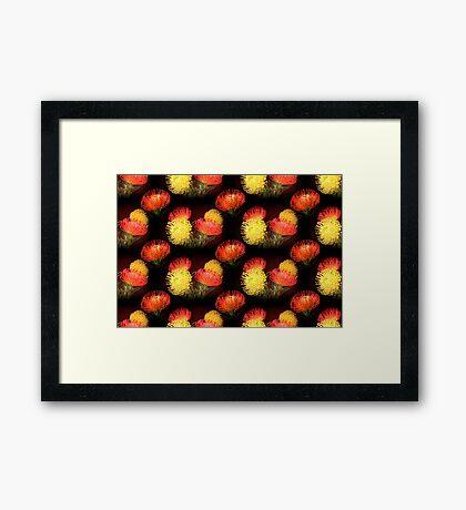 Protea - pattern Framed Print