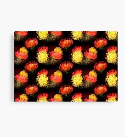 Protea - pattern Canvas Print