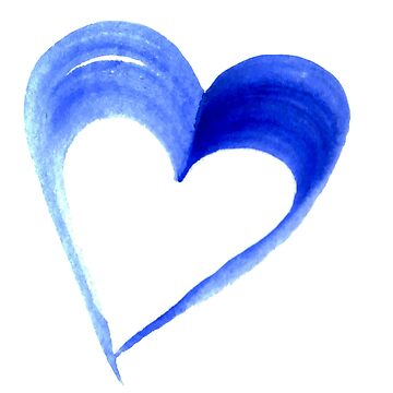 Blue Heart Water Colour by SuperPhanNacho