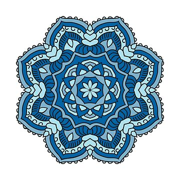 Ocean Blue Mandala by aviralmess