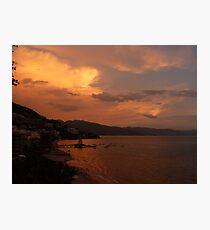 sunset's afterglow - fosforescencia de atardecer Photographic Print