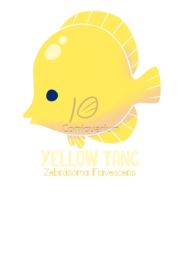 Yellow Tang 1 by Comiquarium